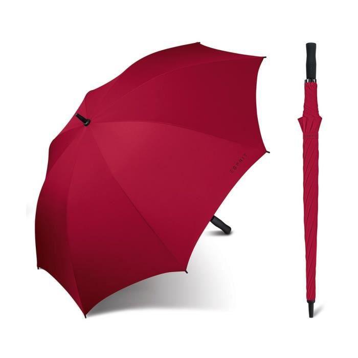Esprit - Grand parapluie droit automatique femme Golf flagred 50102 taille 96 cm