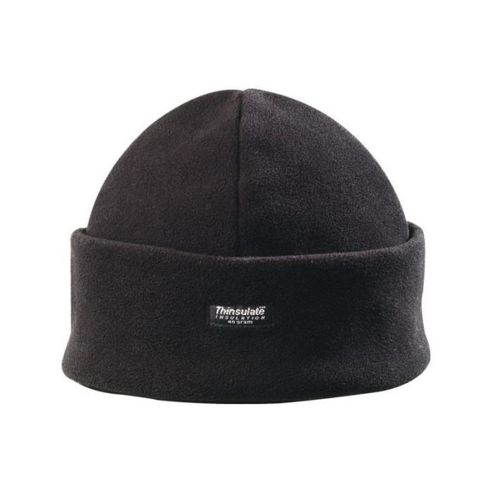 Bonnet polaire double thinsulate noir taille unique