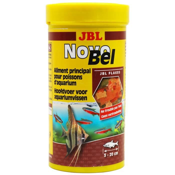 JBL Nourriture en flocons Novobel - Pour poisson d'aquarium - 250ml