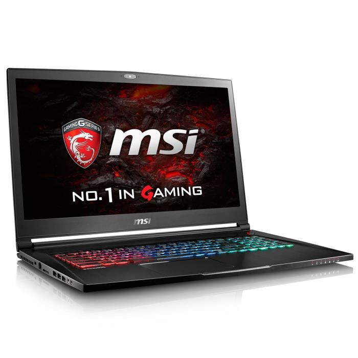Msi pc portable gs73vr 6rf 084fr 173 ultra hd ram 16 go intel core i7 6700hq stockage 1 to 512go ssd geforce gtx 1060