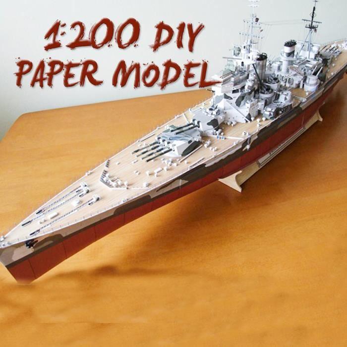 1-200 Modèle Cuirassé De Navire Guerre Modèle De Construction Jouet