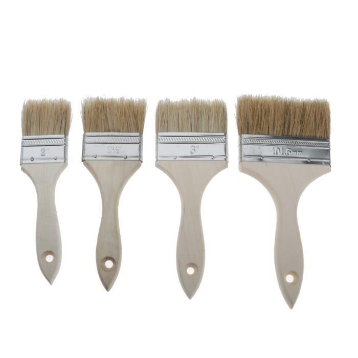 blanc Lot de 3 pinceaux plats professionnels 12 /épaisseur 3 pinceaux 25 mm 35 mm 50 mm