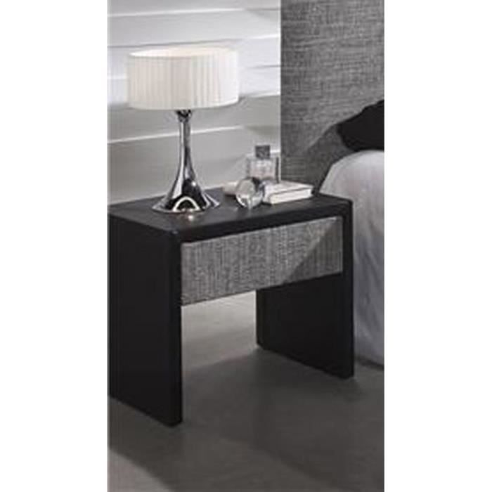 Table de nuit recouverte mod le turin achat vente for Modele table de nuit
