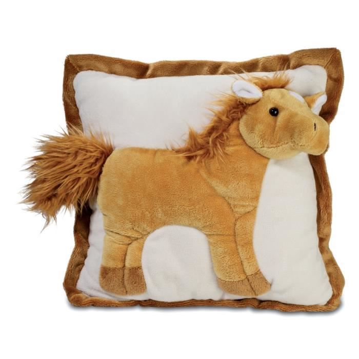 coussin peluche cheval animal achat vente peluche cdiscount. Black Bedroom Furniture Sets. Home Design Ideas