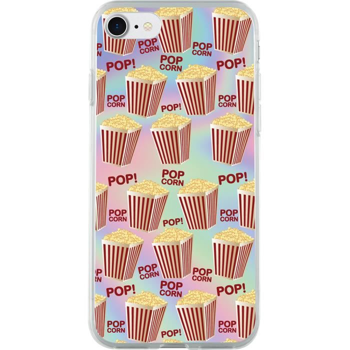 coque rigide holographique pop corn pour iphone 6