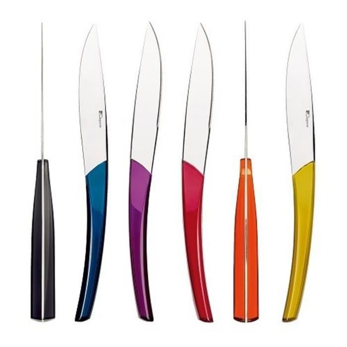Guy degrenne quartz multicolore 6 couteaux a steack 205896 achat vente m nag re cdiscount - Couteaux a steak guy degrenne ...