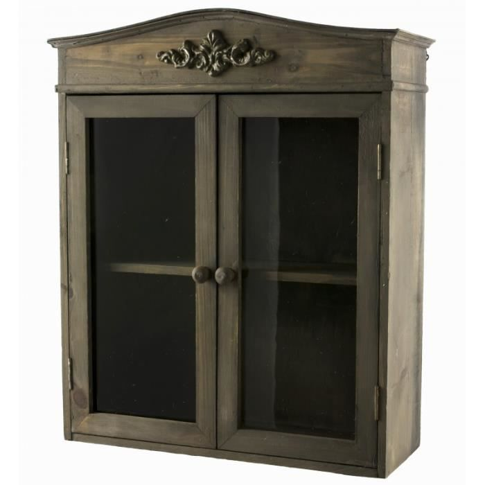 etag re de rangement murale vitr e fa on petite armoire. Black Bedroom Furniture Sets. Home Design Ideas