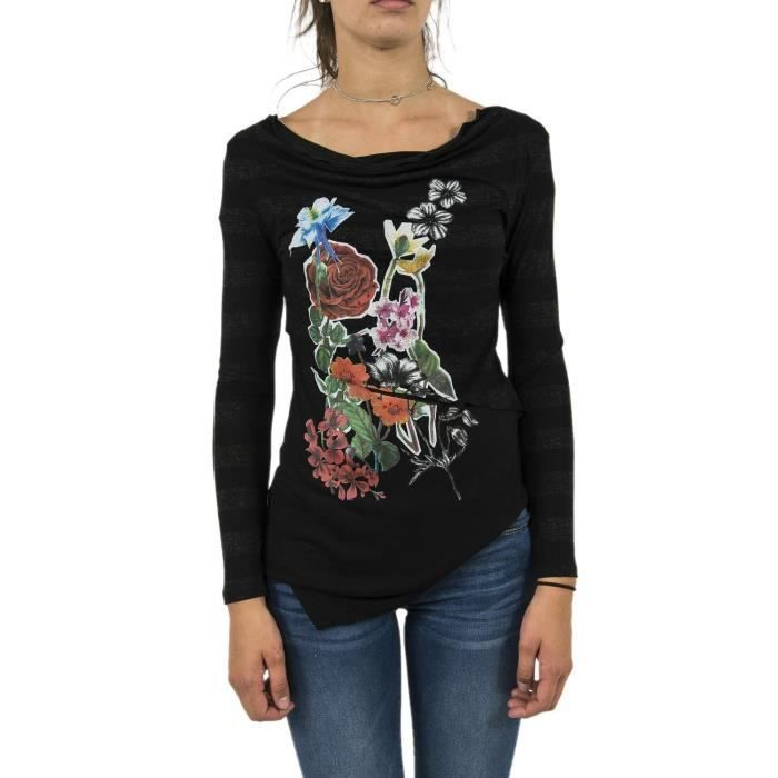 Tee shirt manches longues desigual 17wwtk0