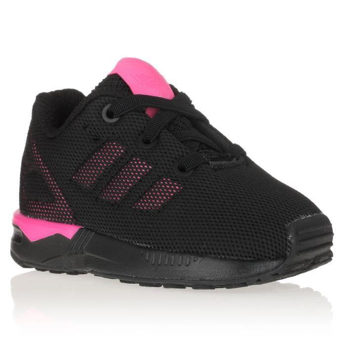 ADIDAS ORIGINALS Baskets ZX Flux Chaussures Bébé Fille Noir et ...