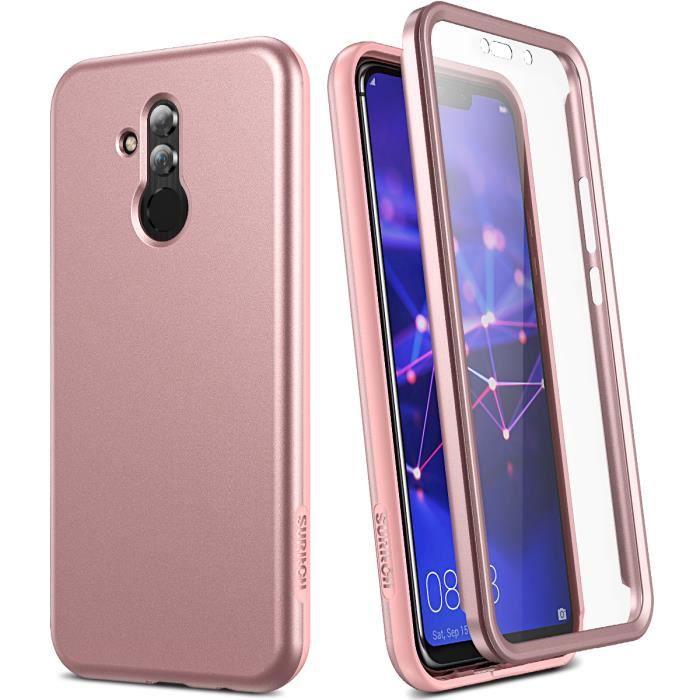 【SmartLegend】Coque Huawei Mate 20 lite Bumper Protection Totale à 360 ° avec Protecteur D'écran Intégré Or Rose