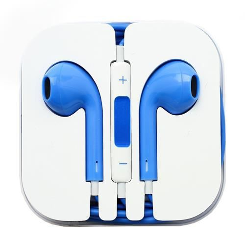 ecouteur earpods kit main libre bleu pour apple ipad 4. Black Bedroom Furniture Sets. Home Design Ideas