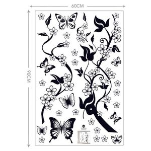 awesome stickers noir vigne de fleur et papillons stickers muraux with stickers style industriel. Black Bedroom Furniture Sets. Home Design Ideas