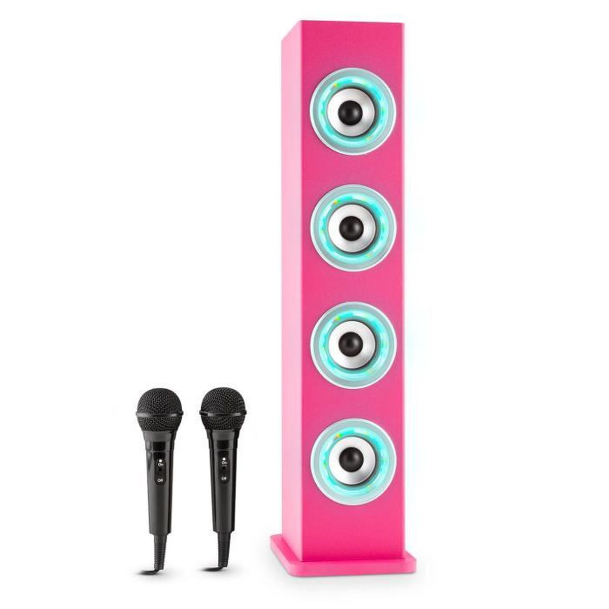 auna karaboom enceinte bluetooth avec fonction karaoke. Black Bedroom Furniture Sets. Home Design Ideas