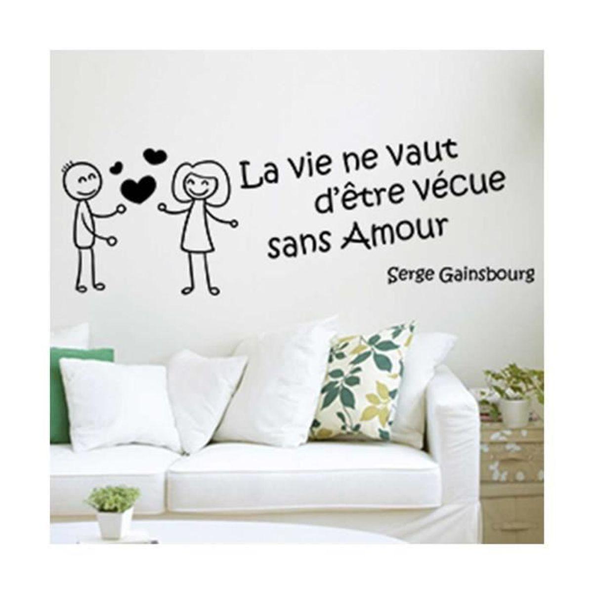 Maison Serge Gainsbourg Visite Intérieur sticker citation serge gainsbourg noir - achat / vente