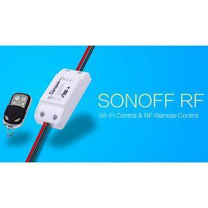 PRISE TÈLÈCOMMANDÈE Sonoff RF-WiFi 433Mhz sans fil commutateur à dista