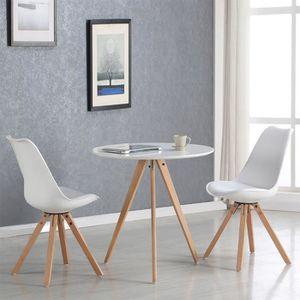 TABLE À MANGER SEULE Table à manger ronde scandinave blanche 80cm - Osl