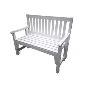 banc de jardin blanc achat vente pas cher cdiscount. Black Bedroom Furniture Sets. Home Design Ideas