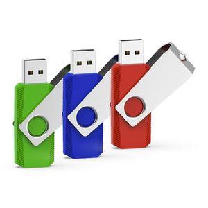 CLÉ USB RAOYI Lot de 3 Clé USB 32Go Pivotante, Clef USB 2.