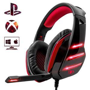 CASQUE - ÉCOUTEURS Casque Gaming PS4, Casque gamer PC Ultra-léger Sté