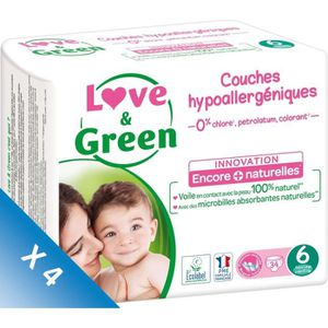 COUCHE LOVE AND GREEN Couches Pack 1 mois T6 4x34 - 136 c