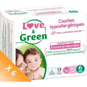 COUCHE LOVE AND GREEN Couches écolabellisées T6 - 204 cou