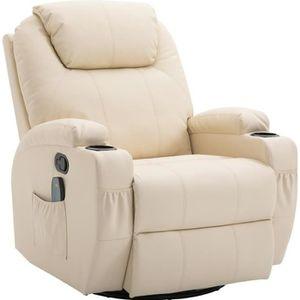 FAUTEUIL Fauteuil canapé sofa relaxation massant chauffant