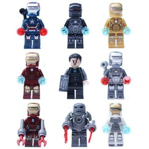 FIGURINE - PERSONNAGE Lot De 9 Figurines Iron Man séries de Construction