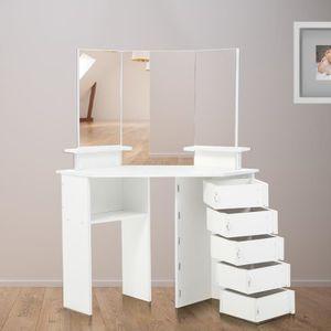 COIFFEUSE Makika Table de Maquillage - Coiffeuse de coin TYR