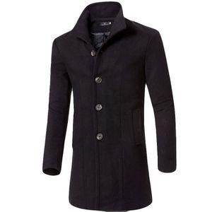 MANTEAU - CABAN manteau pour homme hiver en laine mélangée et reve