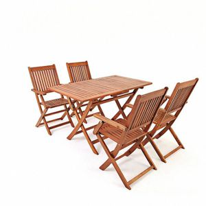 SALON DE JARDIN  Stillcool® Mobilier de Jardin 5pcs en Bois d'acaci
