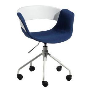 CHAISE DE BUREAU Chaise de bureau Tissu Bleu - BOOGIE - L 46 x l 47