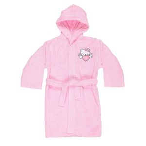 PEIGNOIR HELLO KITTY Peignoir 100% coton - 6 / 8 ans - Rose