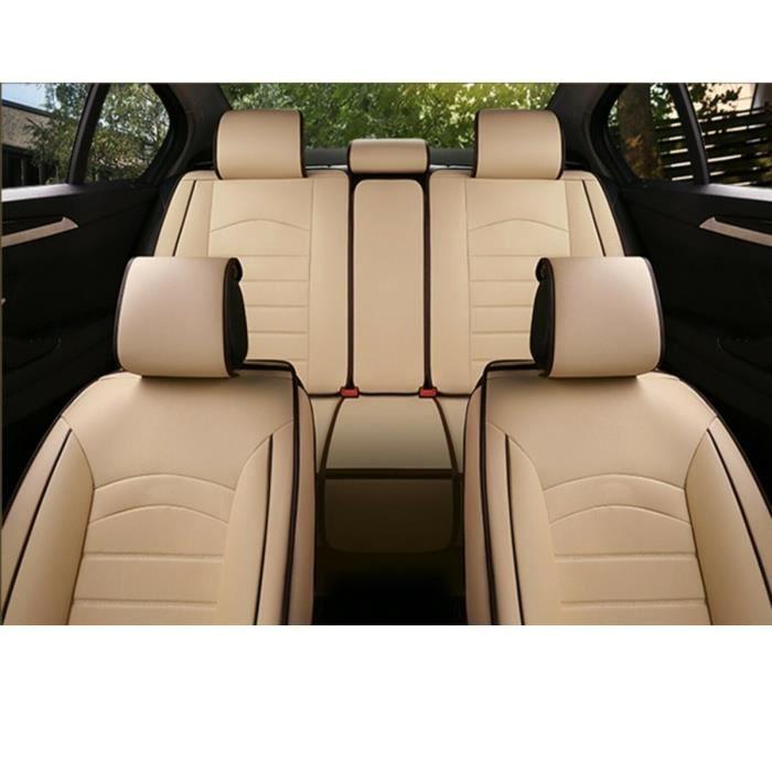 Audi Housses Couvre Siège Jeu Complet Cuir PU Beige Respirant