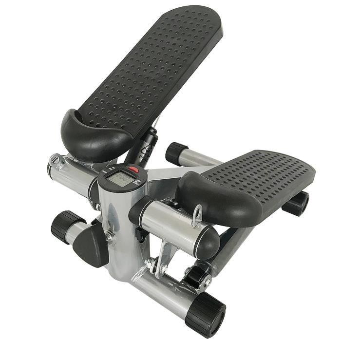 WSdwqaa° Mini Stepper à LCD Avec Cordon de Serrage - Équipement d'entraînement à domicile - NOIR+ GRIS!!!