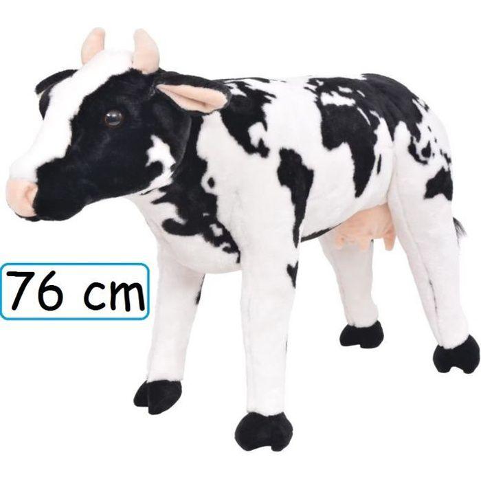 Peluche Vache Doudou Géant 76 cm XXL pour enfant adulte calins décoration cadeau Jouet anniversaire noel fête