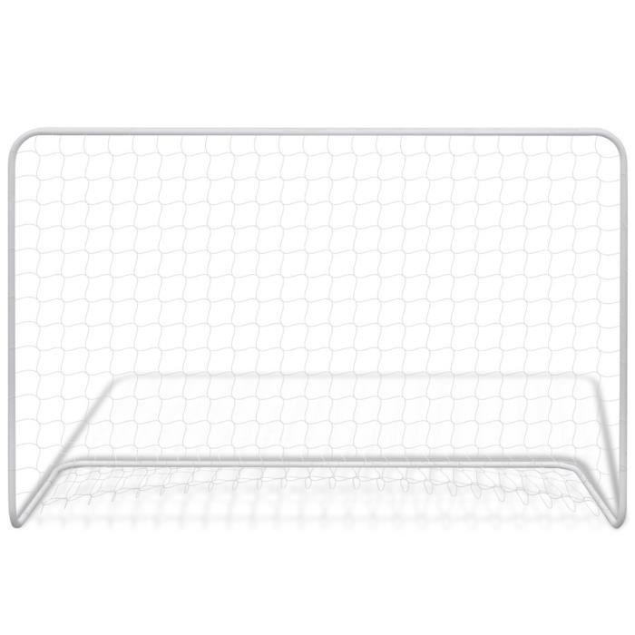 Buts et filets de football Cage de football en acier 182 x 61 x 122 cm