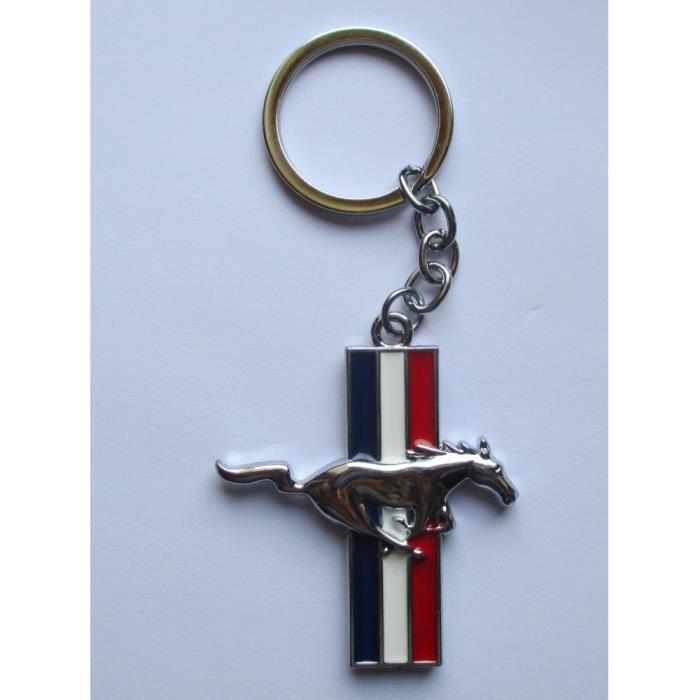 porte clé cheval mustang en metal logo 3d double face