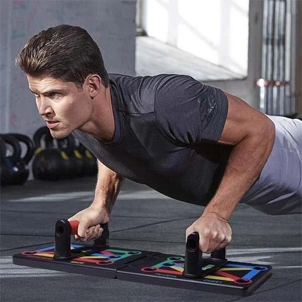 12-en-1 entraînement Push-up Stands outils d'exercice de musculation maison complète Fitness équipement d'e - ZOAMFWZDA07798