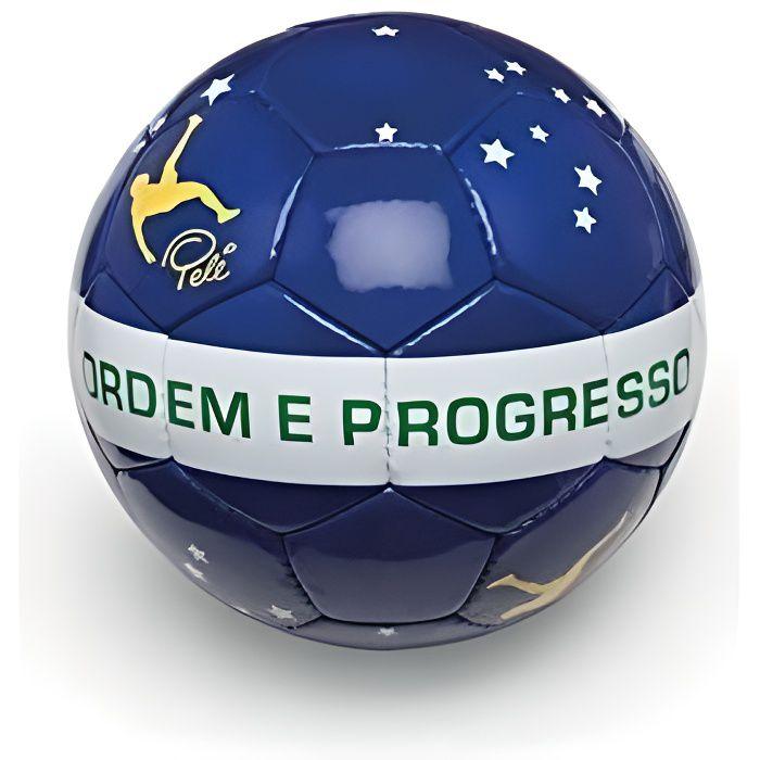 Ballon De Football Pvc Pelé ''ordem E Progresso' Taille 5