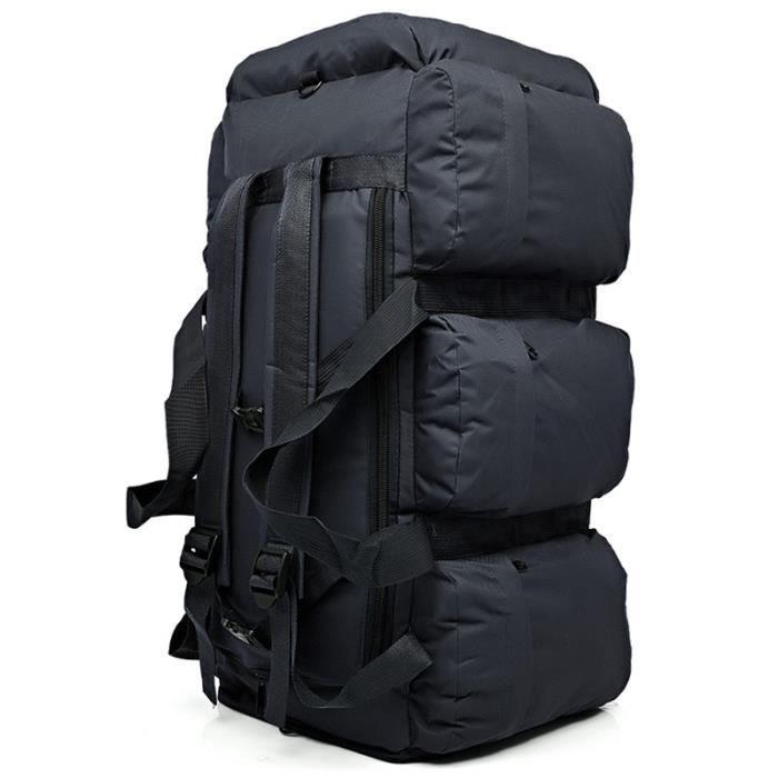 black 50 - 70L -Sac à dos tactique militaire pour hommes, grande capacité 90l, étanche, Oxford, randonnée, Camping, sac de voyage ré