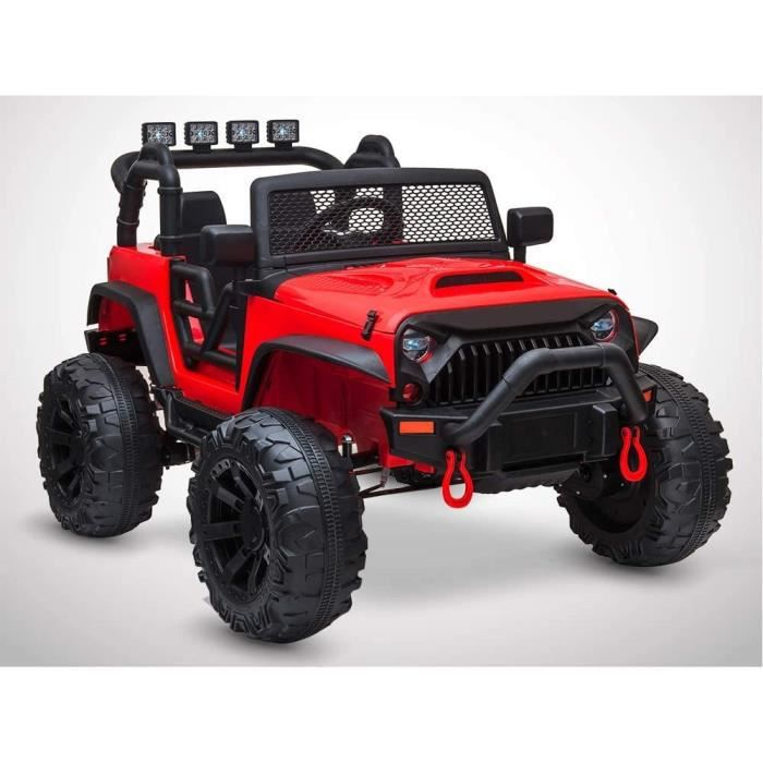 VOITURE ELECTRIQUE re eacutelectrique enfant KINGTOYS 4X4 Big Rock 80W Rouge235