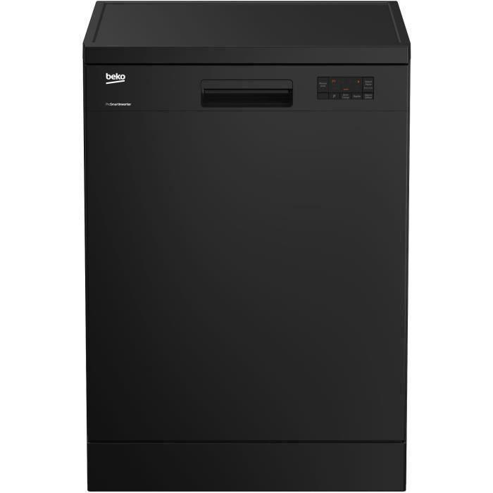 Lave-vaisselle pose libre BEKO - LAP65B2 - 15 couverts - Largeur 60 cm - Classe A++ - 45 dB - Noir