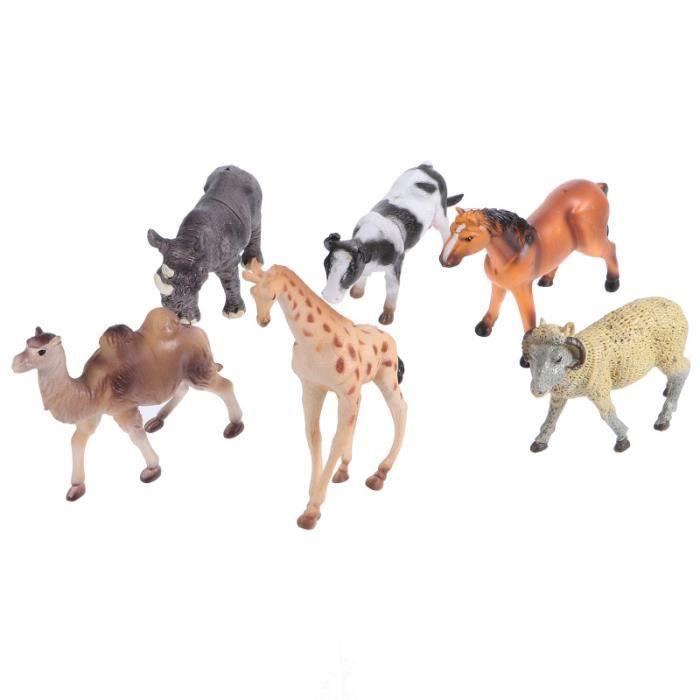 6pcs Figurines d'animaux Délicat Durable Porneau robot miniature - personnage miniature - anime miniature monde miniature