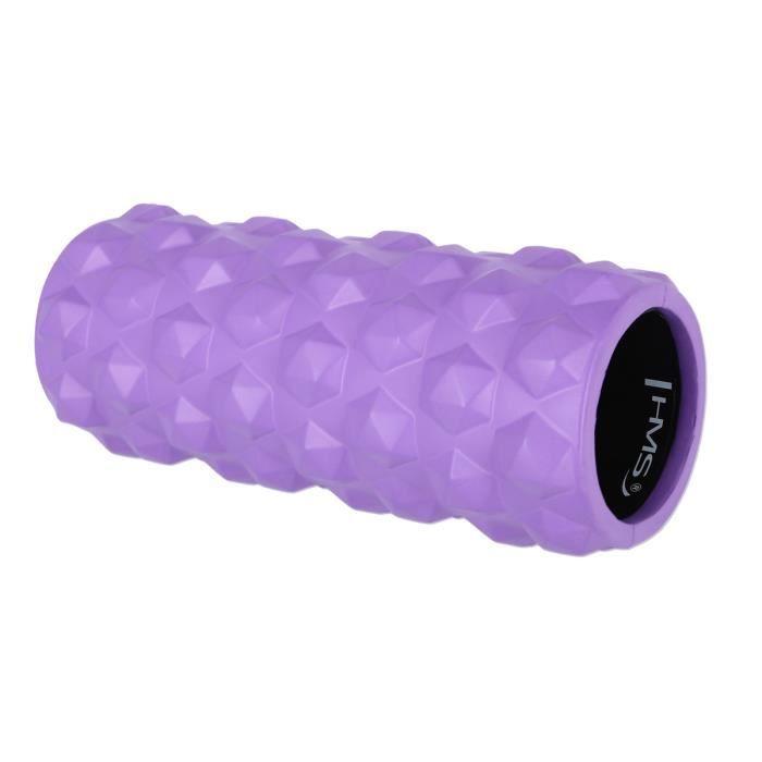 HMSPORT - Rouleau de massage fitness - Roller en mousse - Appareil de massage - Rouleau de mobilité - Violet