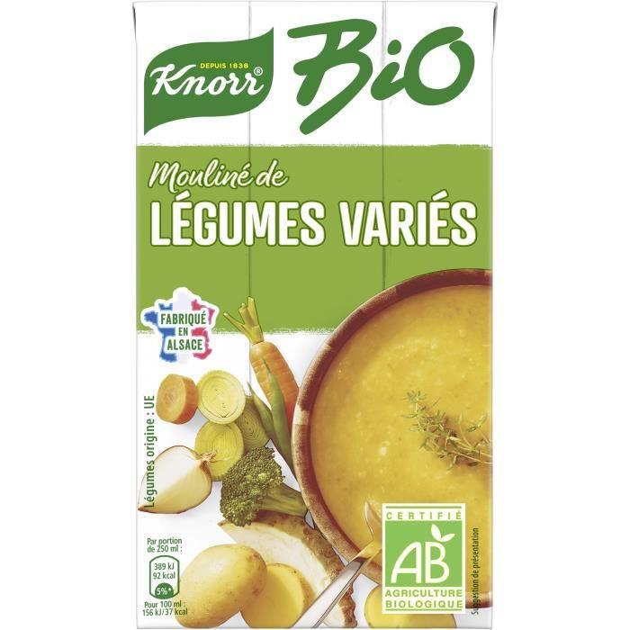 KNORR Soupe Liquide Bio Légumes Variés - 1 l