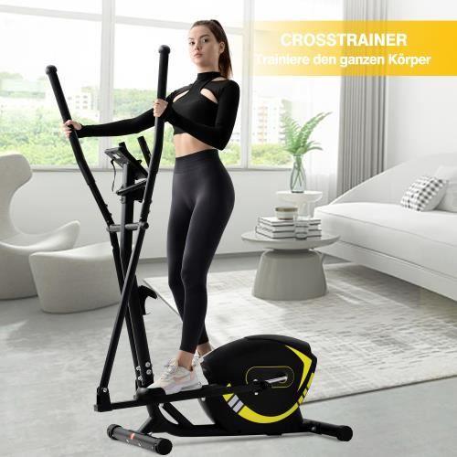 Vélo elliptique à domicile avec poignée d'impulsion (système de freinage magnétique)(l'entrepôt allemand en stock)