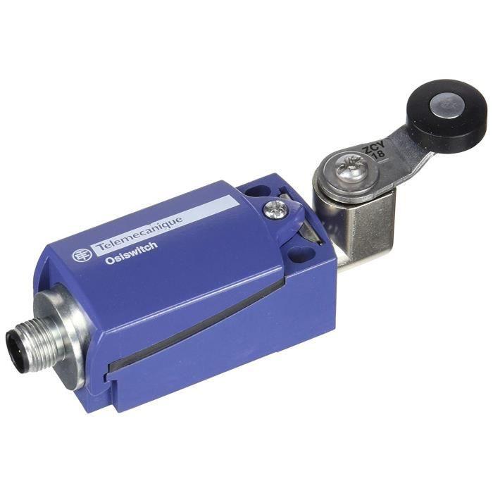 Schneider Electric Xckd2118 m12 Limit Switch M12, métal, 1-conduit 65 x 31 x 30 mm Plastique Roller Lever NC + No Snap M12 - XCKD21