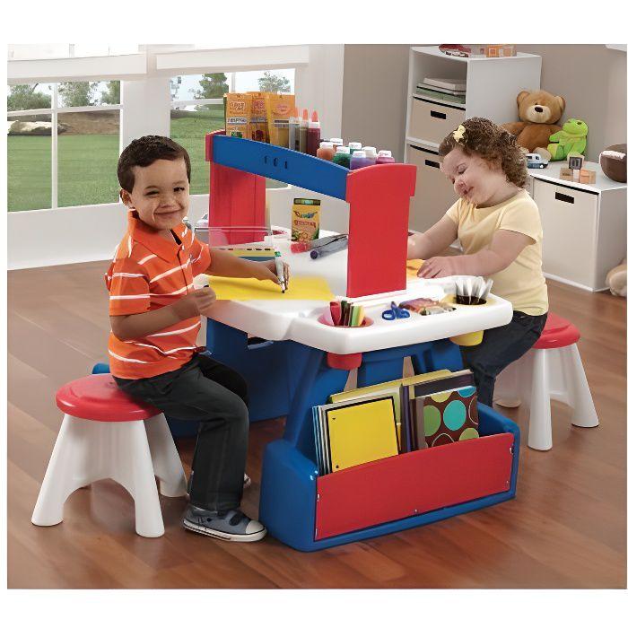 STEP2 bureau enfant en plastique dur Creative Projects Table avec tabouret 3 ans et plus