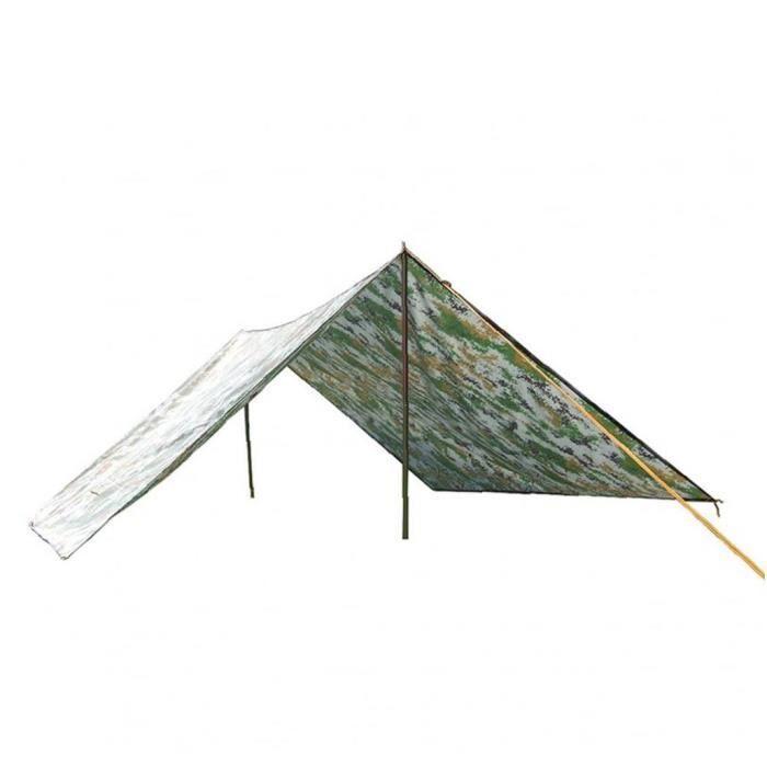Tente d'alpinisme Tapis légère CampingHiking imperméable Escalade Voyage Camouflage