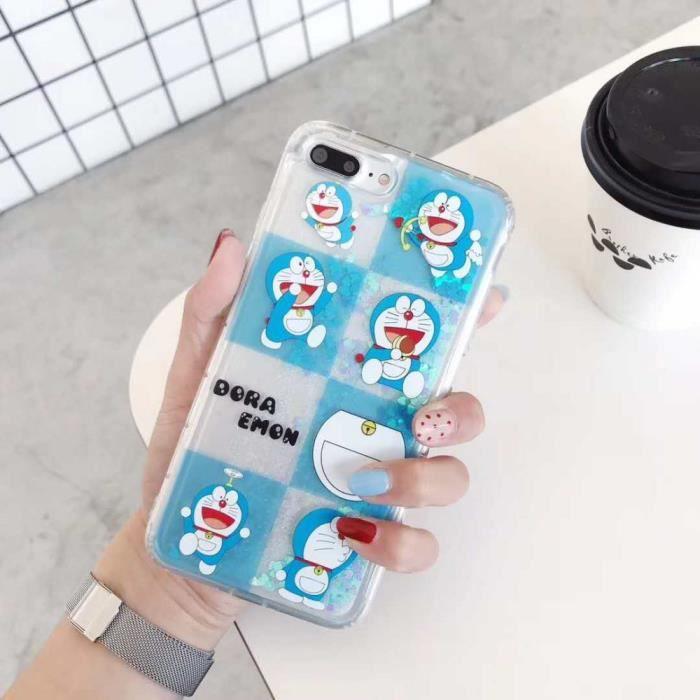 COQUE - BUMPER Coque, iPhone7Plus, Style 3 Dessin animé Doraemon